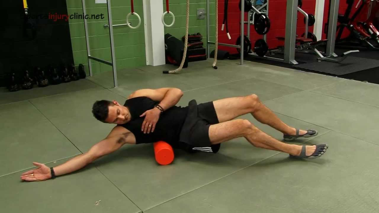 Lateral Muscle Exercises Foam Roller Relief